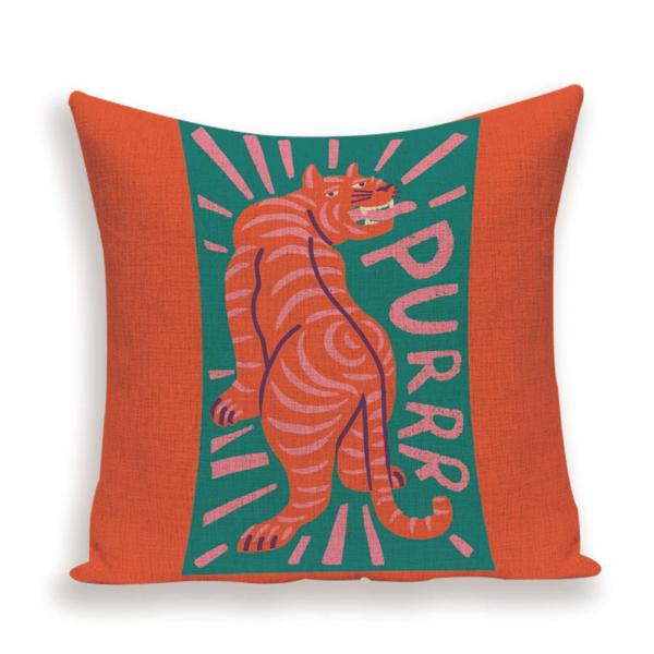 Purr tiger cushion