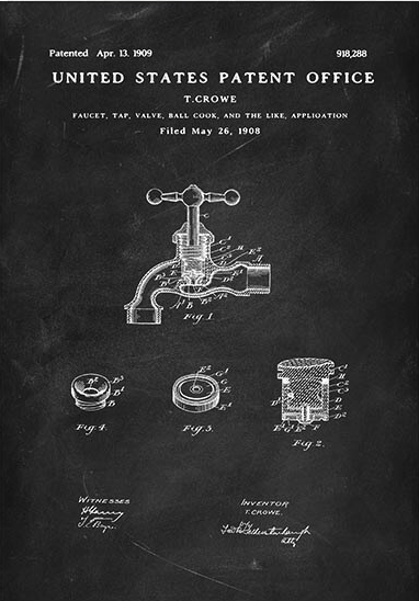 Tap valve patent