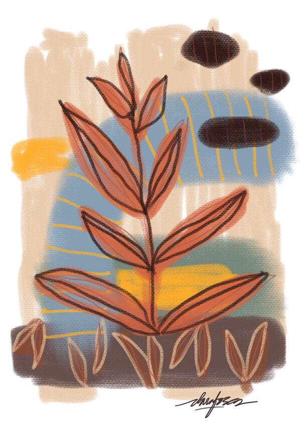 Abstract Nature print III