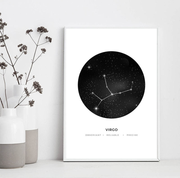 Mockup zodiac astrology