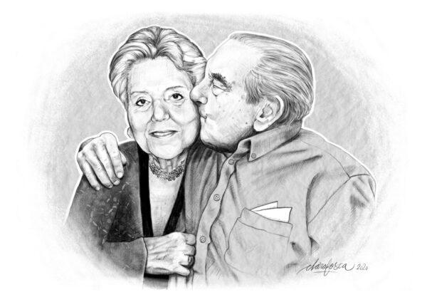 married couple portrait digital