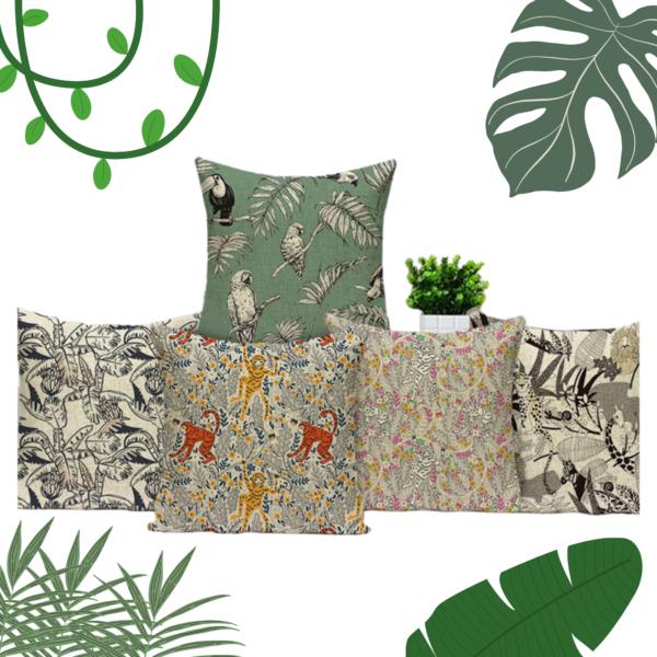 Cushion jungle mockup