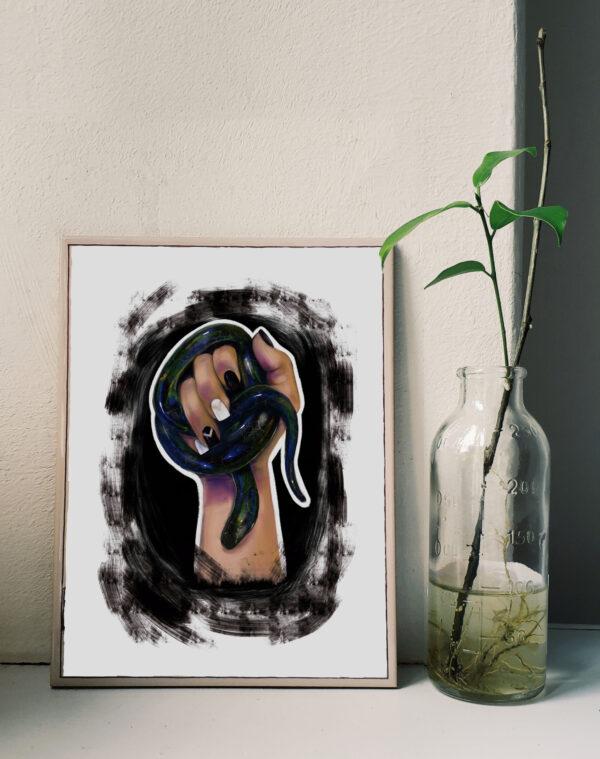 Venom - snake on hand - Clarafosca