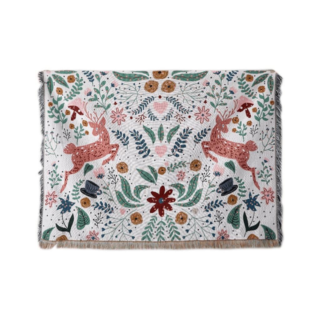 Bush Deer -Tapestry, Throw blanket, Wall blanket